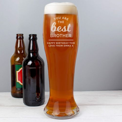 Personalised 'You are the Best' Giant Beer Glass